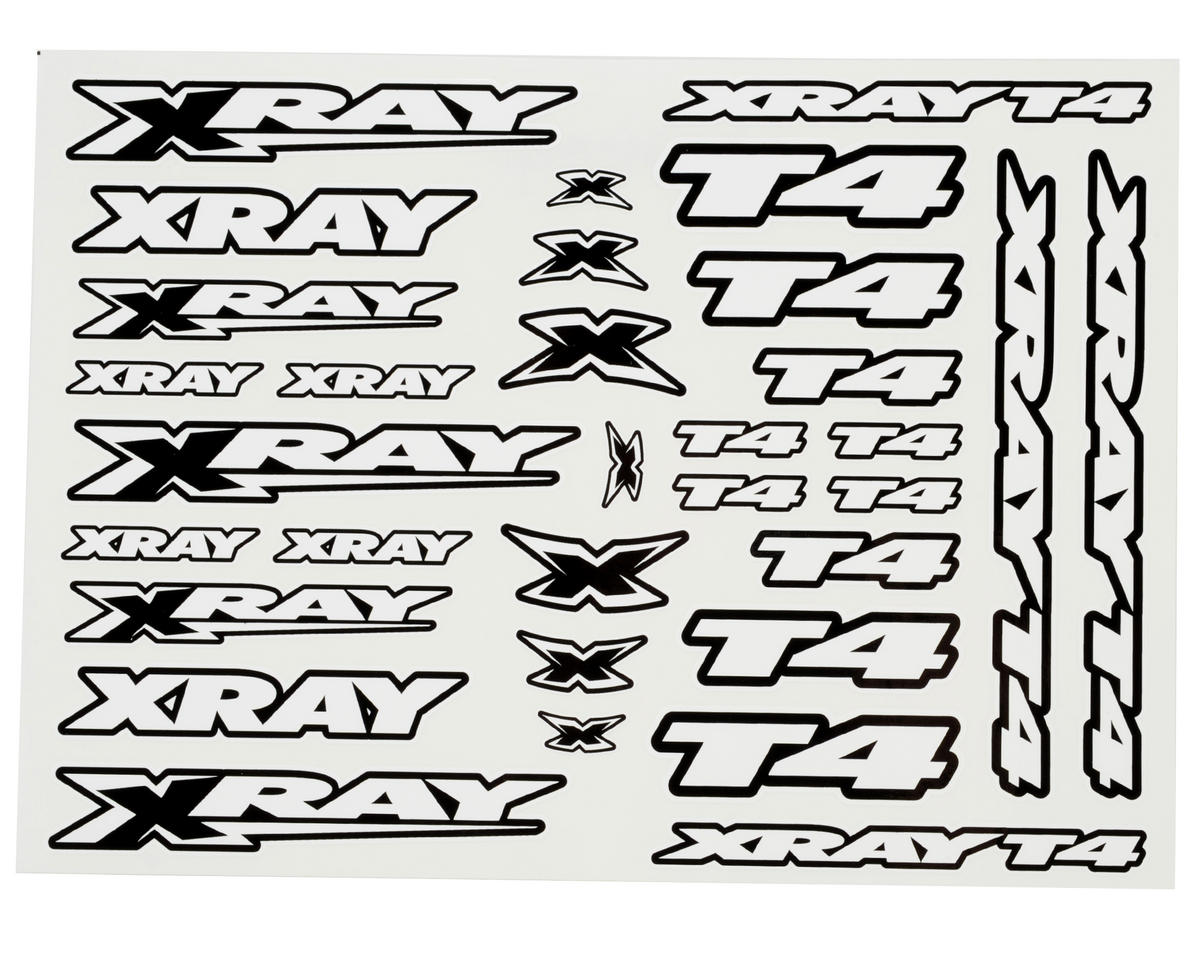 XRAY T4 Sticker Decal Sheet (White)