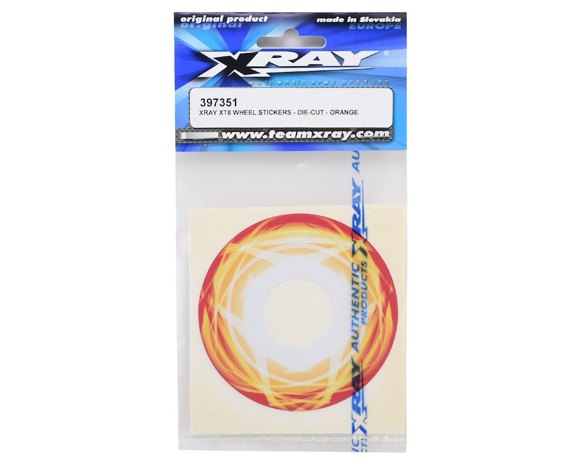XRAY Truggy Wheel Stickers (Orange) (4)
