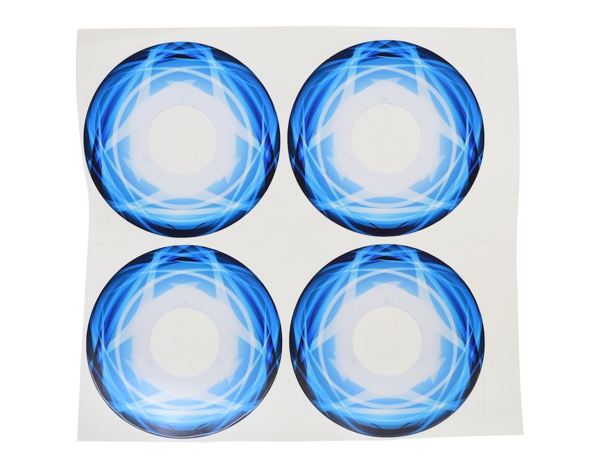 XRAY Truggy Wheel Stickers (Blue) (4)