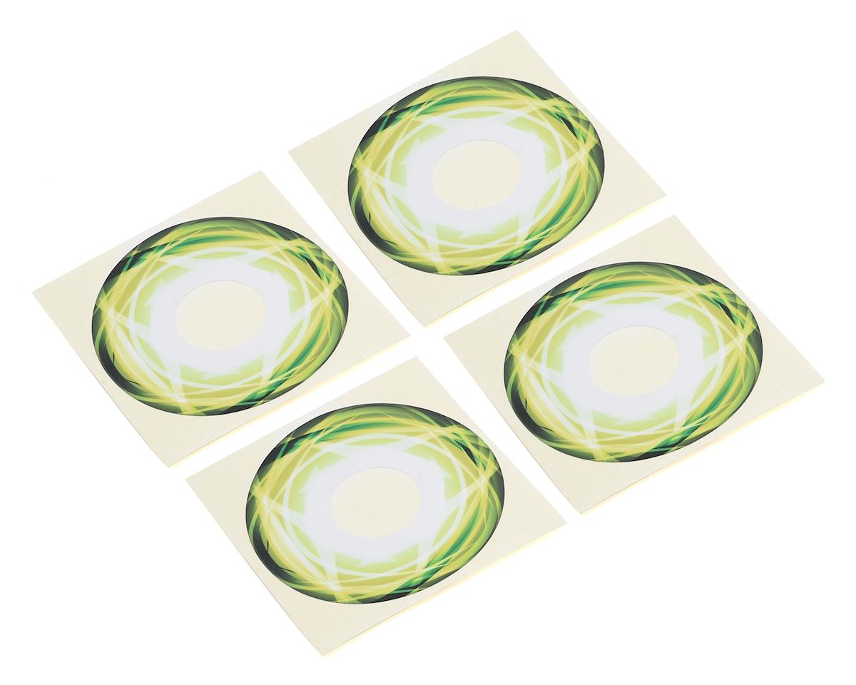 Truggy Wheel Stickers (Green) (4) by XRAY