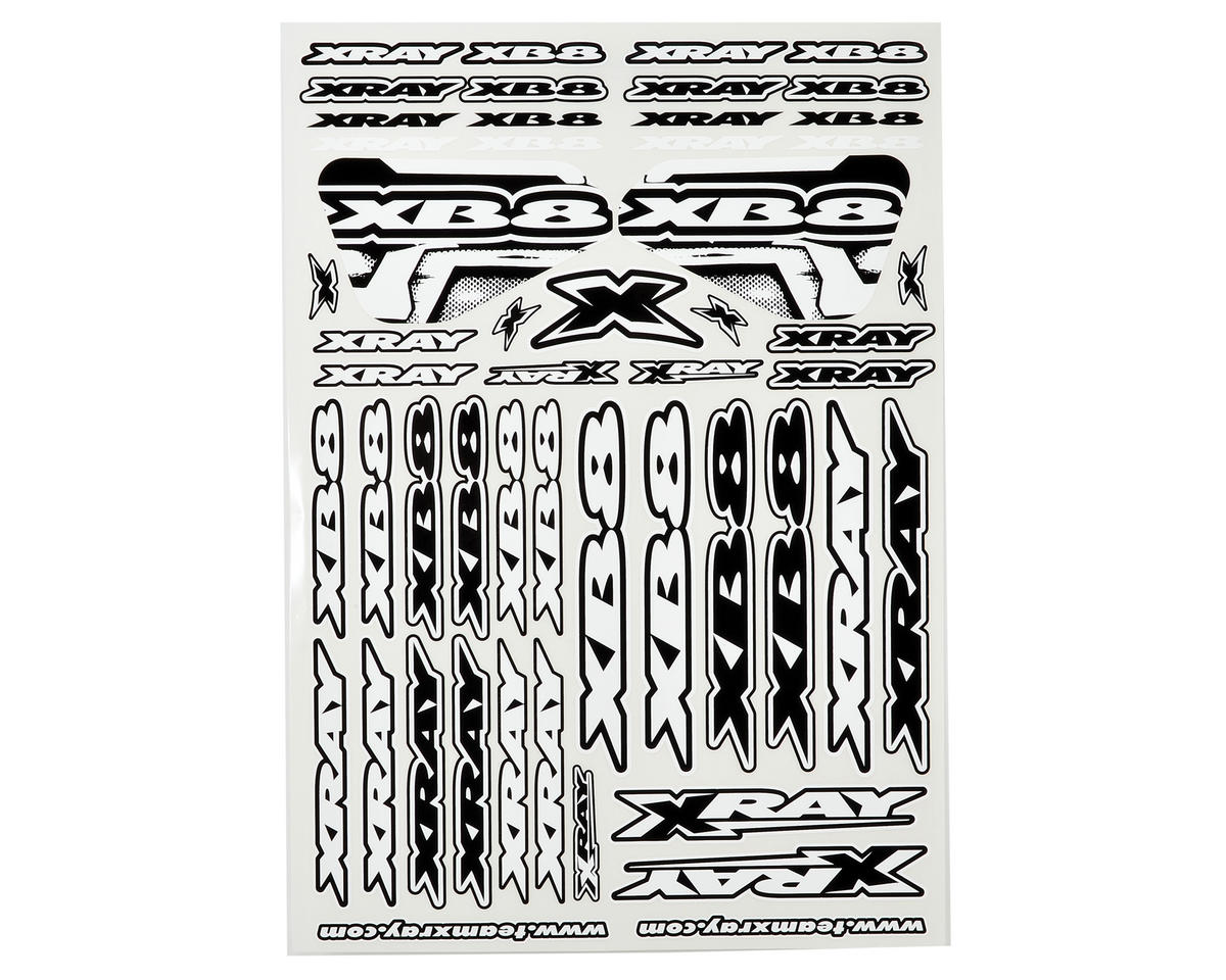 XRAY XB8 Sticker Sheet (White)