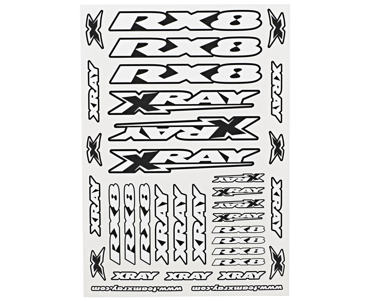 XRAY RX8 Sticker Sheet (White)