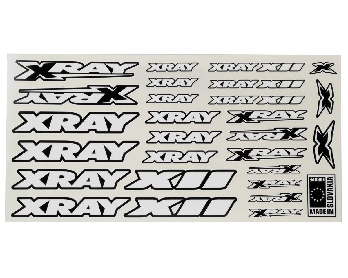 XRAY X12 Sticker Sheet (White)