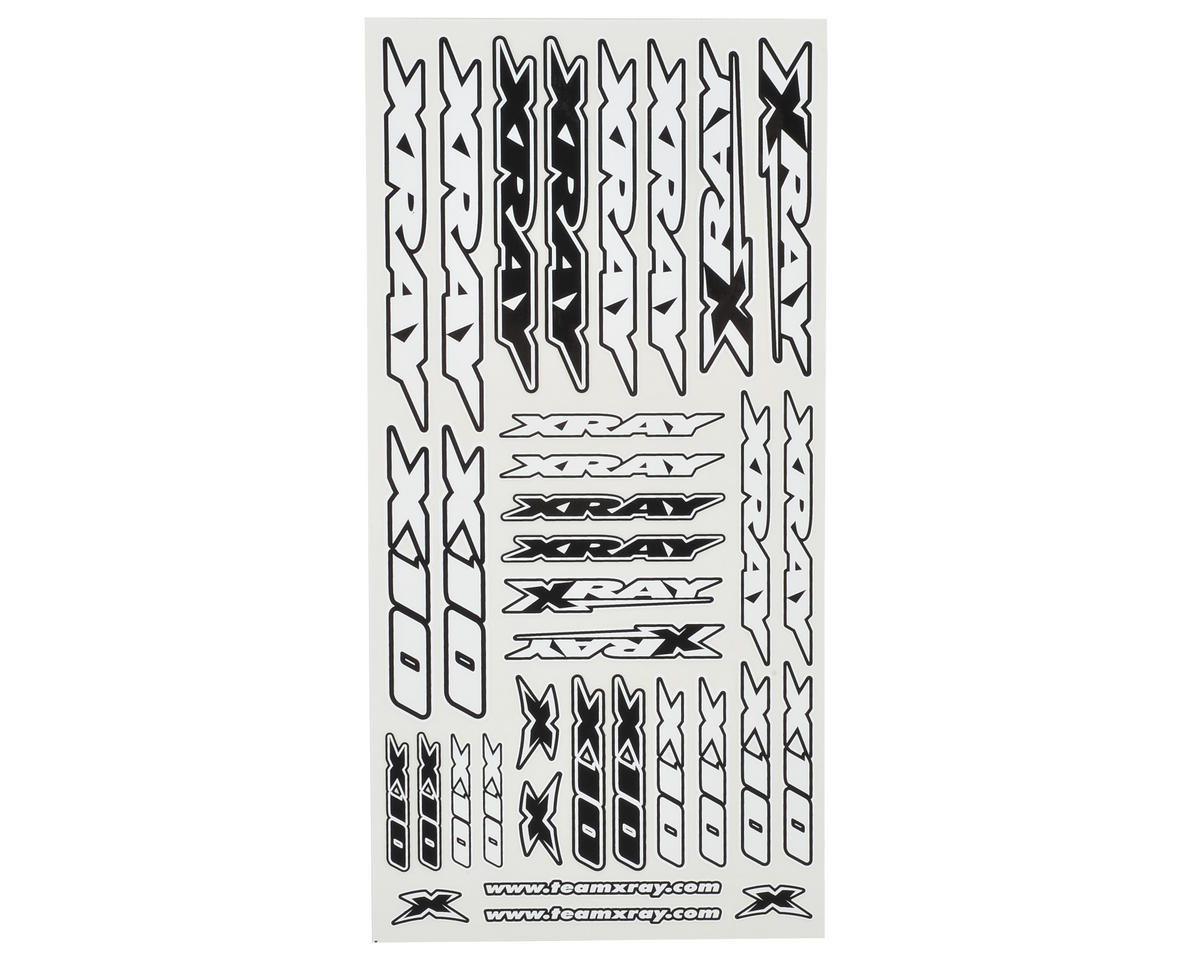 XRAY X10 Sticker Sheet (White)