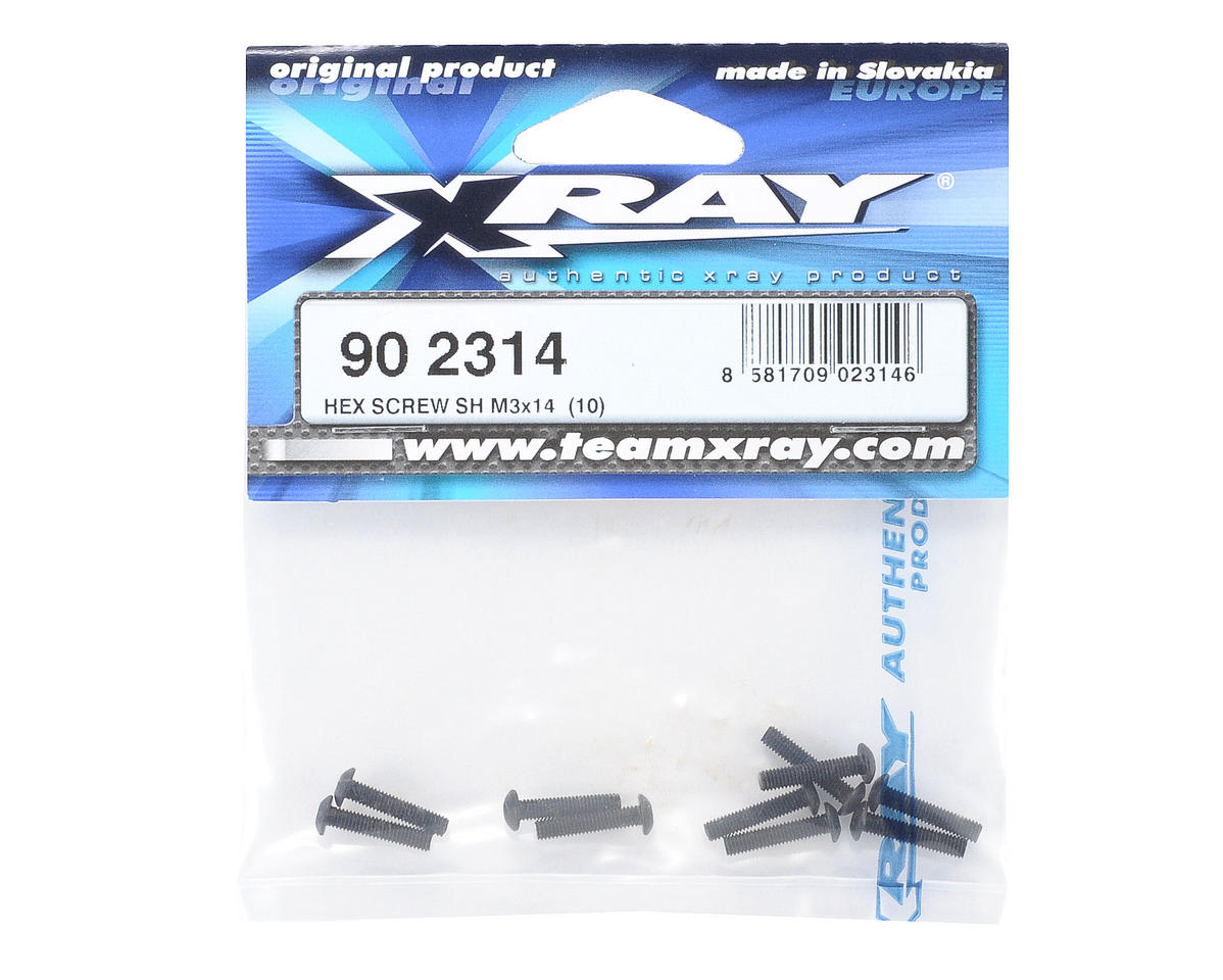 XRAY 3x14mm Button Head Hex Screw (10)