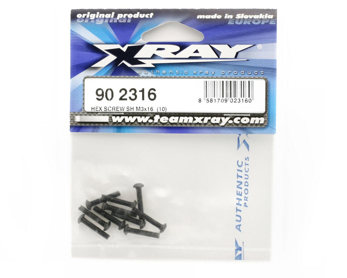 XRAY Hex Screw SH 3x16mm (10)