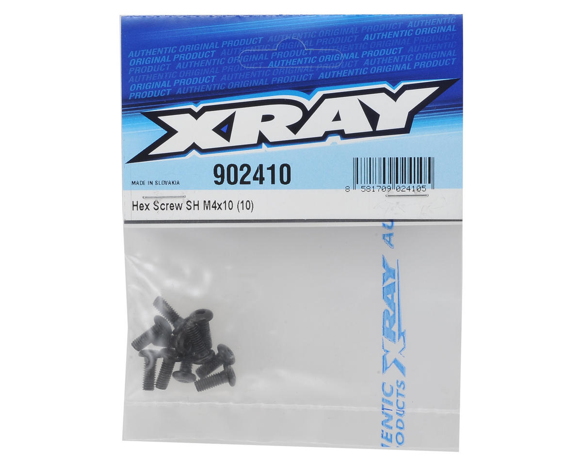 XRAY M4X10 Hex Screw (10)