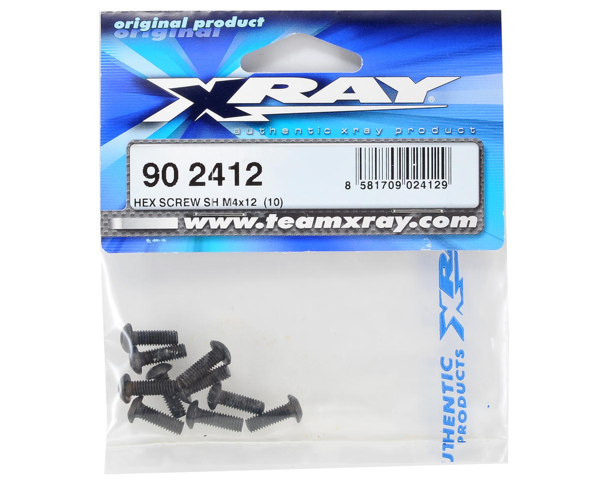 XRAY 4x12mm Button Head Screw (10)