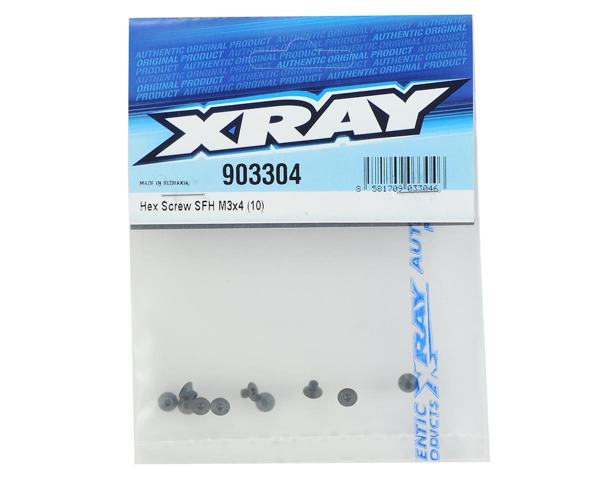 XRAY 3x4mm Flat Head Hex Screw (10)