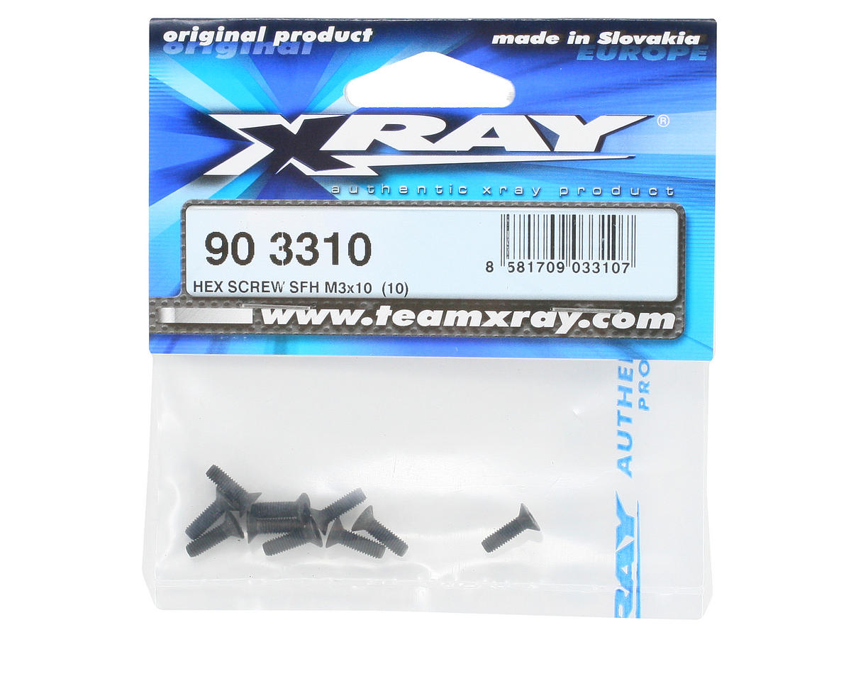 XRAY 3x10mm Flat Head Hex Screw (10)