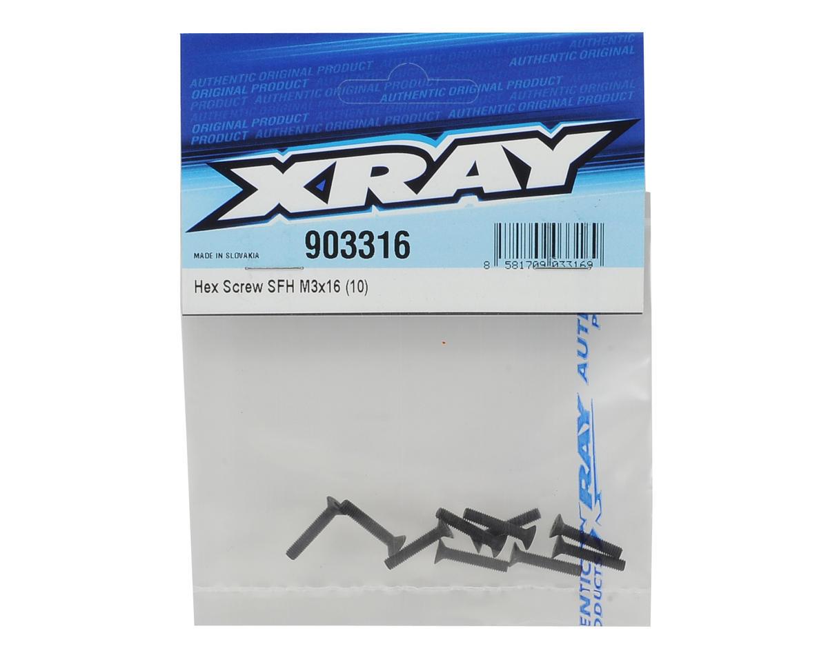 XRAY 3x16mm Flat Head Hex Screw (10)