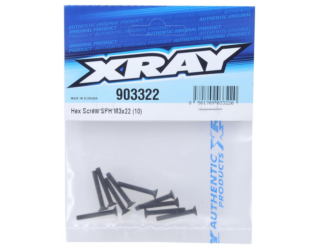 XRAY 3x22mm Flat Head Hex Screw (10)
