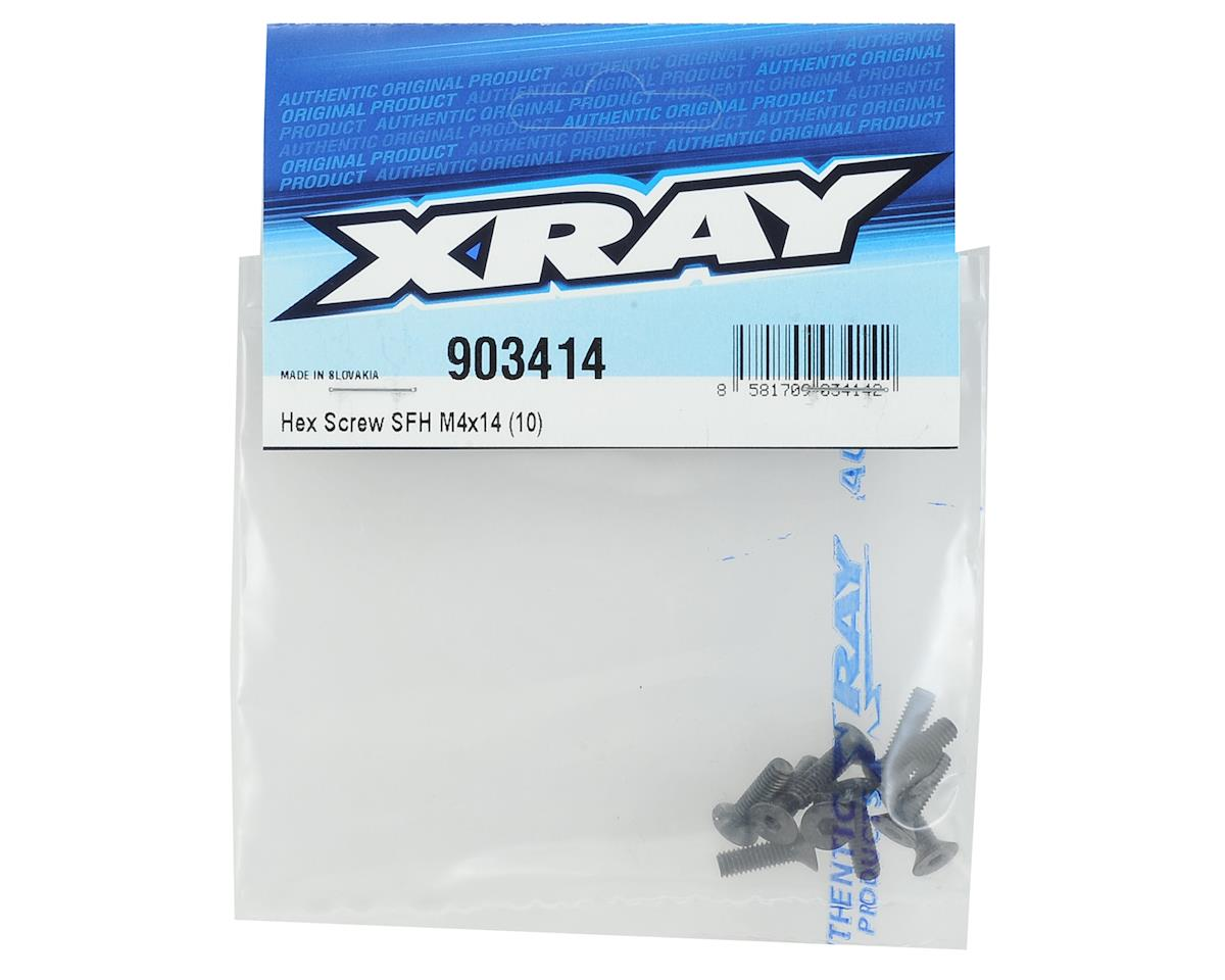 XRAY 4x14mm Flat Head Hex Screw (10)