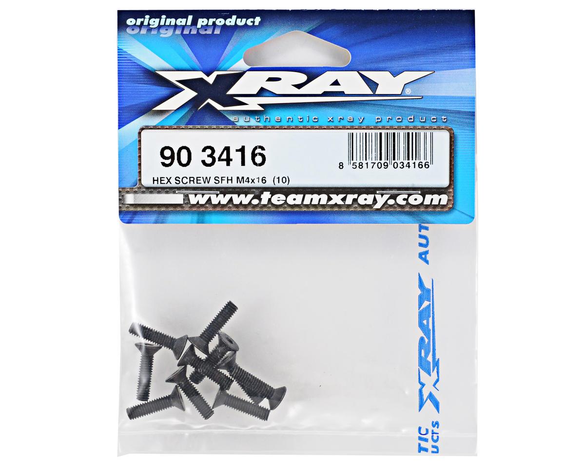 XRAY 4x16mm Flat Head Screw (10)