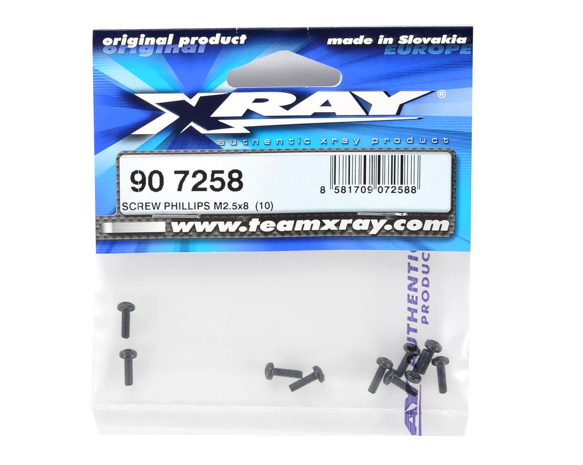 XRAY 2.5x8mm Pan Head Phillips Screw (10)