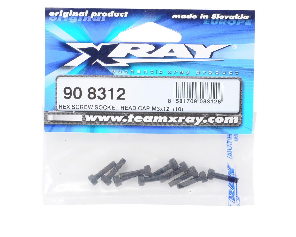 XRAY 3x12mm Cap Head Hex Screw (10)