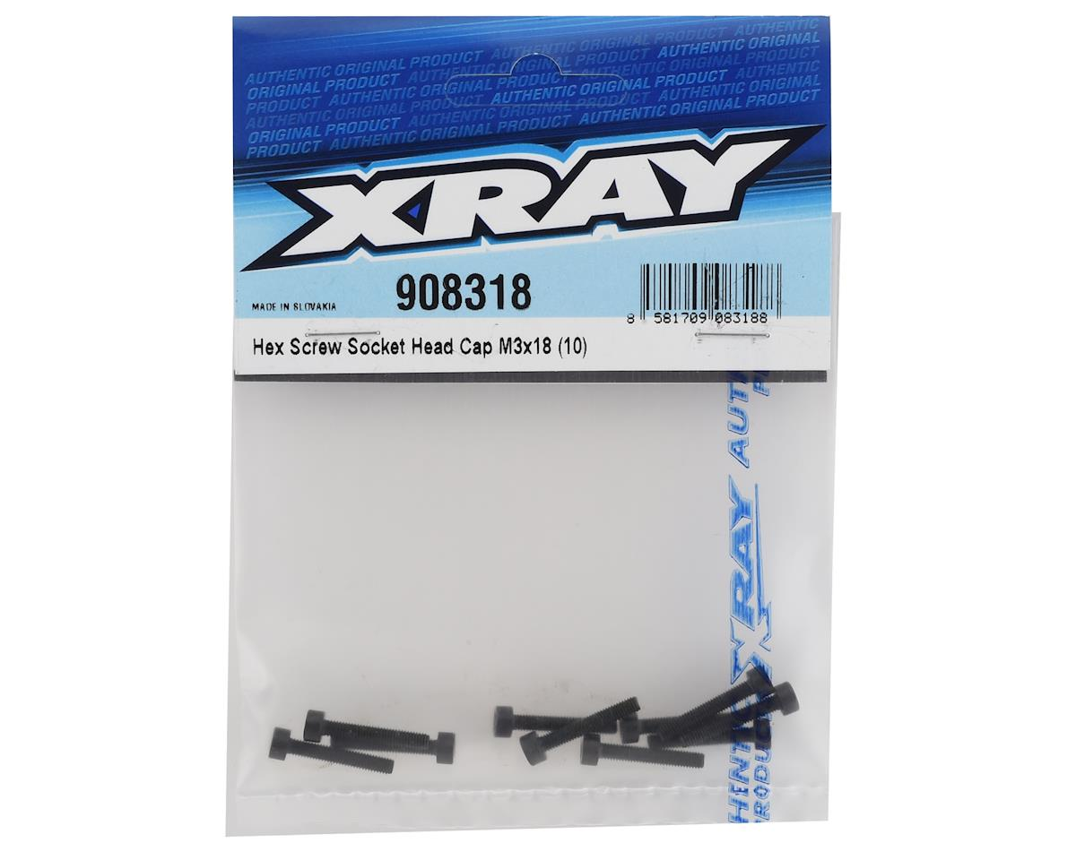 XRAY 3x18mm Cap Head Hex Screw (10)
