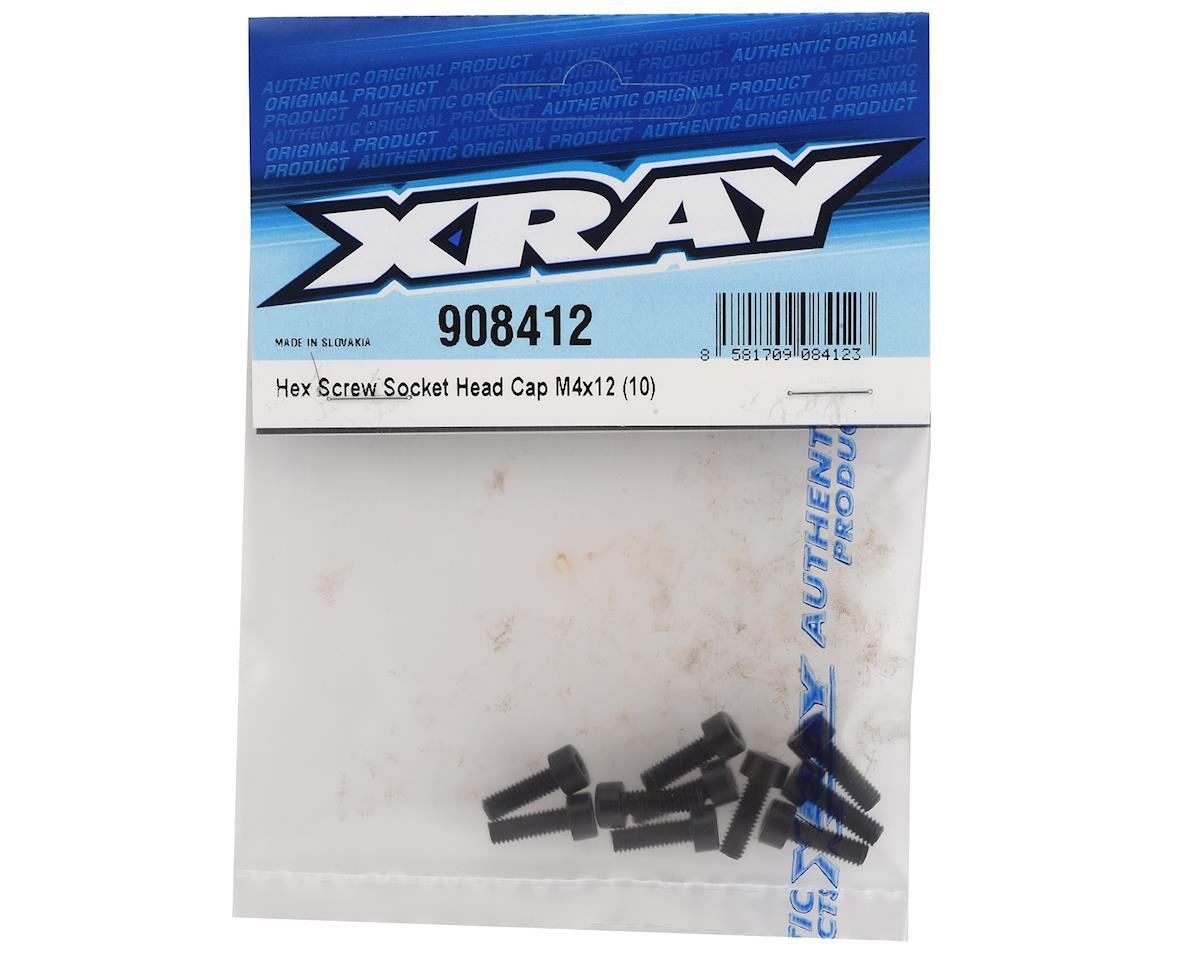 XRAY 4x12mm Cap Head Hex Screw (10)