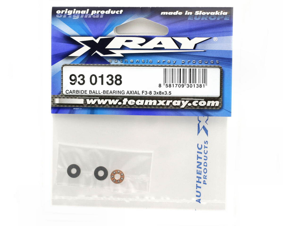 Carbide 3x8x3.5mm Ball Bearing Axial F3-8 by XRAY