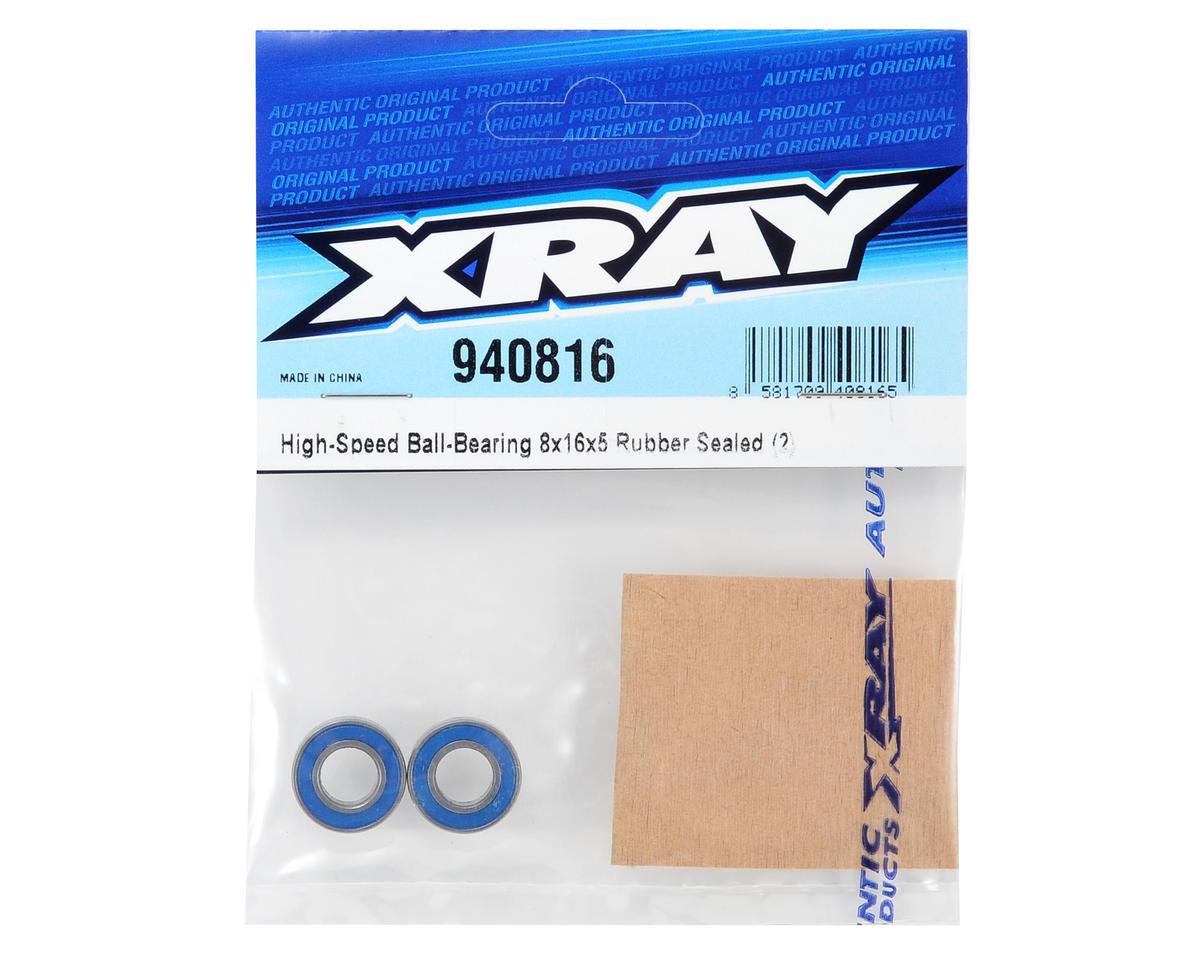 XRAY 8x16x5mm High-Speed Rubber Sealed Ball-Bearing (2)