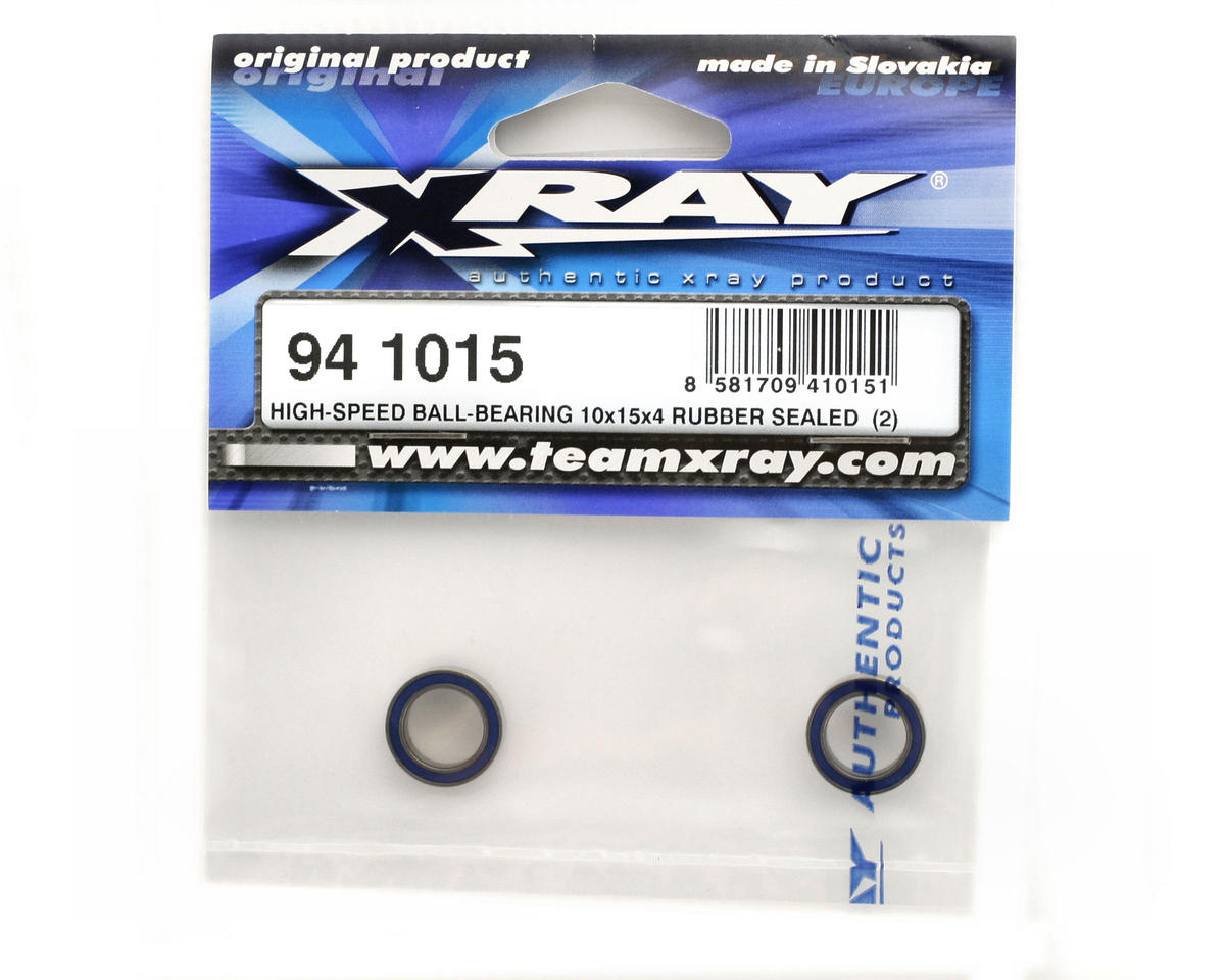 XRAY 10x15x4mm High Speed Ball Bearing (2) (Rubber Sealed)