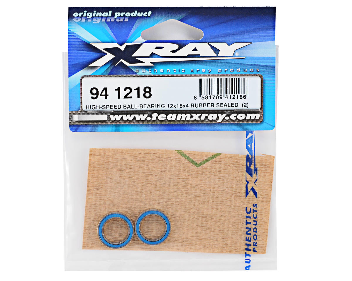 XRAY 12x18x4mm Rubber Sealed High-Speed Ball-Bearing (2)