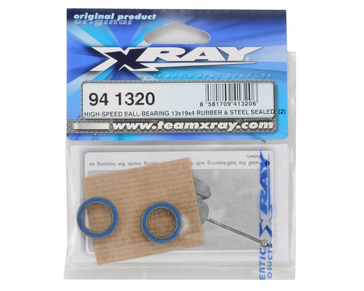 13x19x4mm High-Speed Rubber/Steel Sealed Ball-Bearing (2) by XRAY