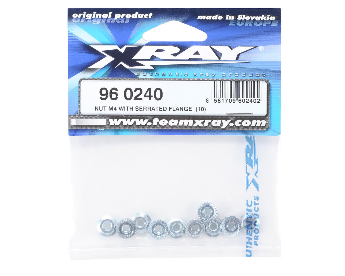 XRAY M4 Serrated Flanged Nut (10)
