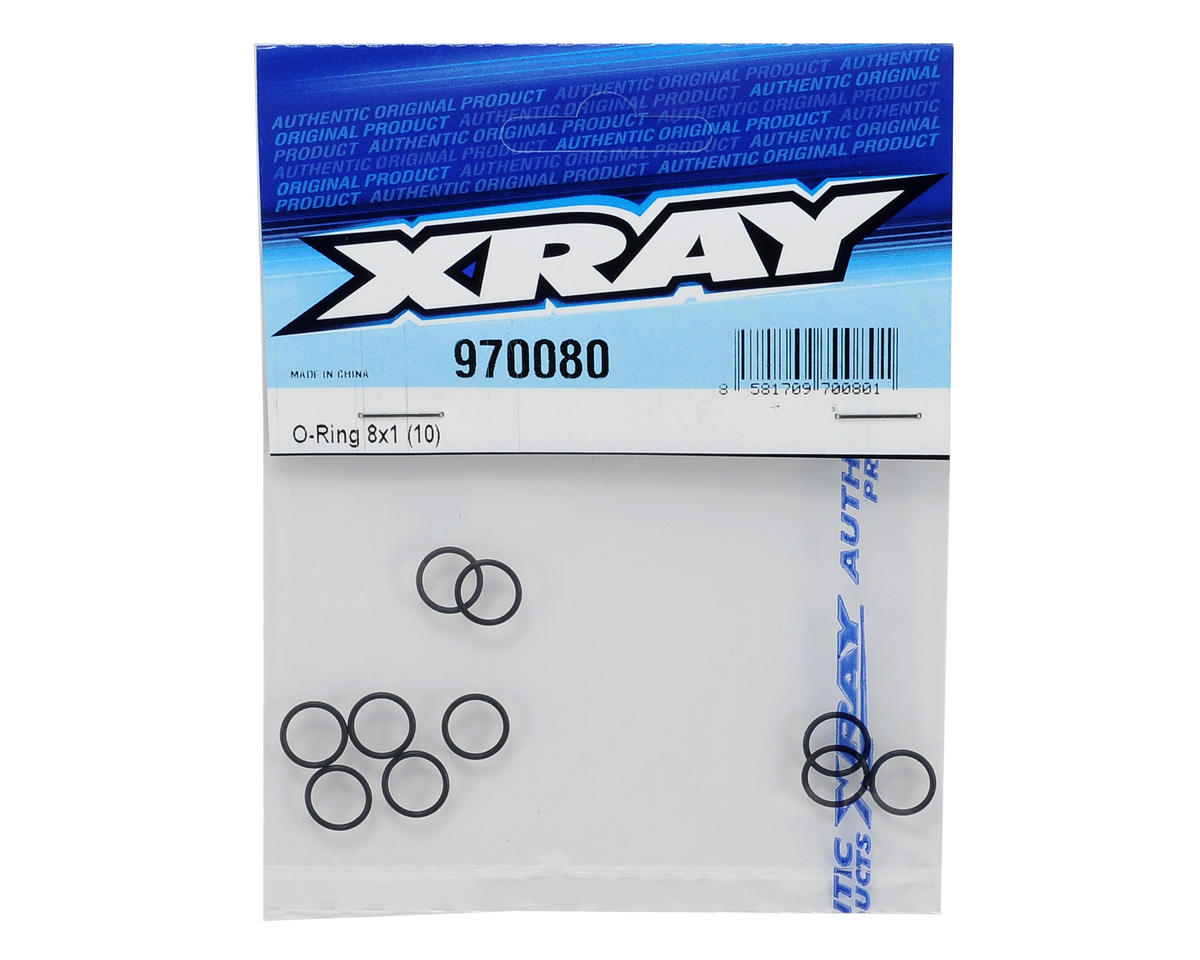XRAY 8x1mm Lower Shock Cap O-Ring (10)