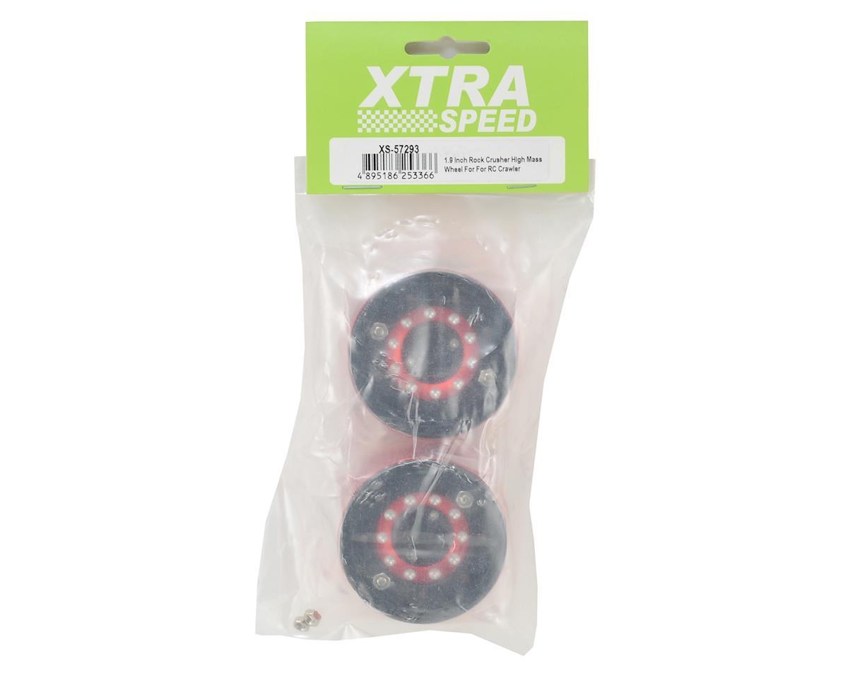 "Xtra Speed Rock Crusher High Mass 1.9"" Aluminum Beadlock Wheel (Black/Red) (2)"
