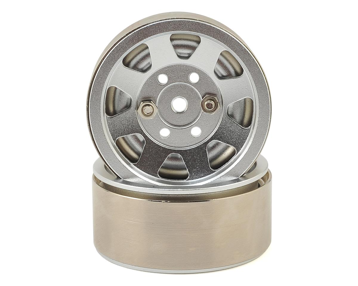 "8 Spoke High Mass 1.9"" Aluminum Beadlock Wheel (Silver) (2) by Xtra Speed"