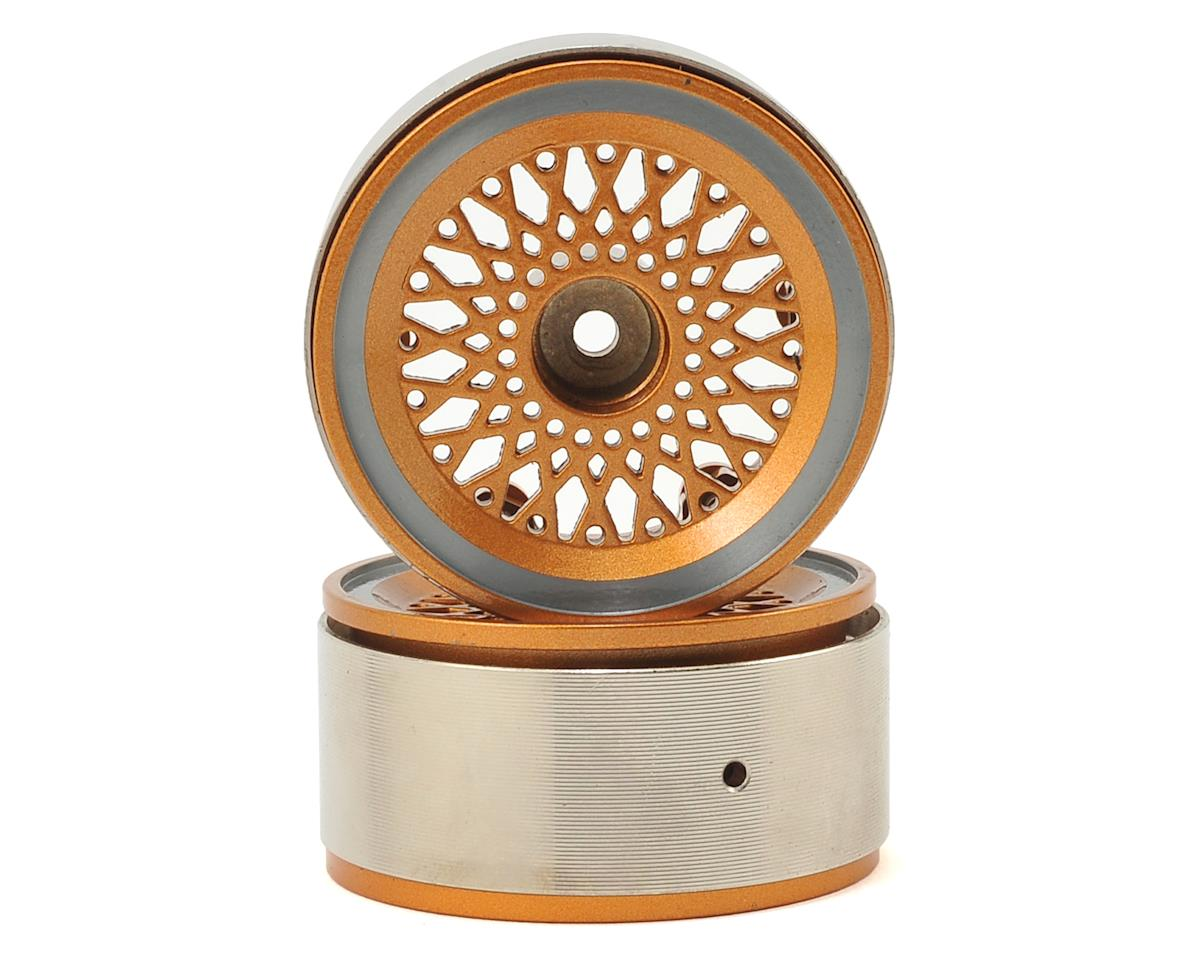 "Xtra Speed Aluminum 1.9"" HD Beadlock Wheel (Gold) (2)"
