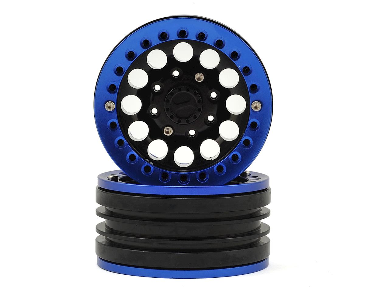 "Aluminum 1.9"" Iron Clock Mass Beadlock Wheel (Blue) (2) by Xtra Speed"