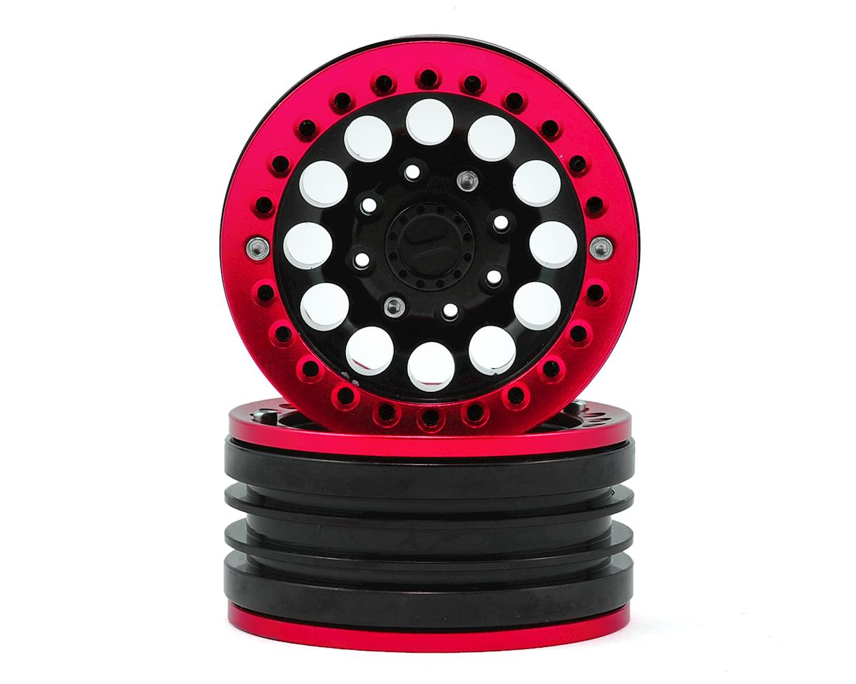 "1.9"" Aluminum Iron Clock Mass Beadlock Wheel (Red) (2) by Xtra Speed"