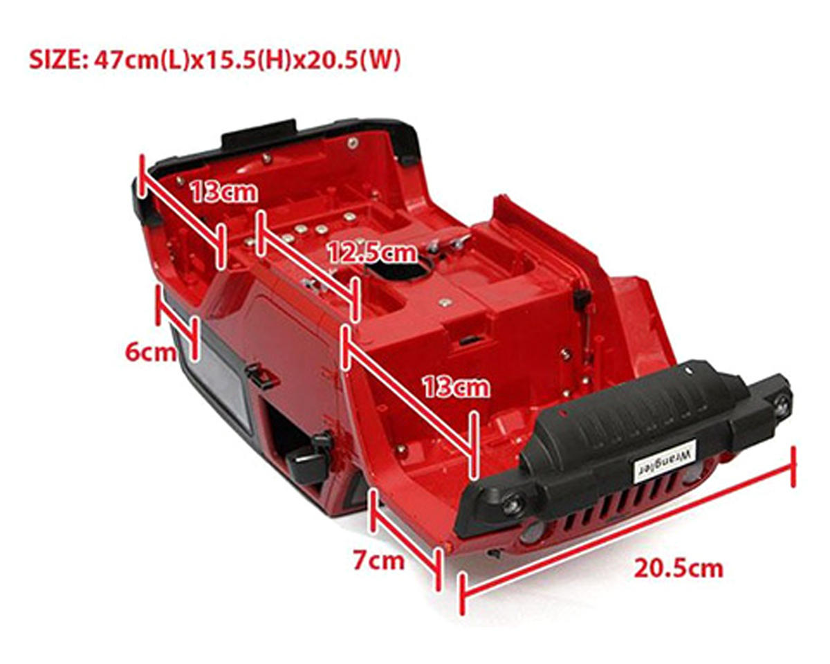 Xtra Speed 1/10 Plastic Hardtop Scale Crawler Hard Body (Red) (275mm)