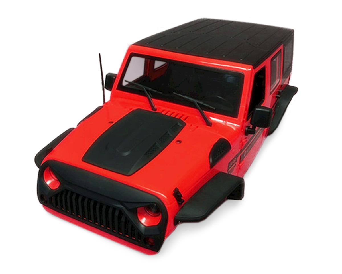 Xtra Speed Jeep Wrangler Hard Plastic Body Kit (Red) (313mm)