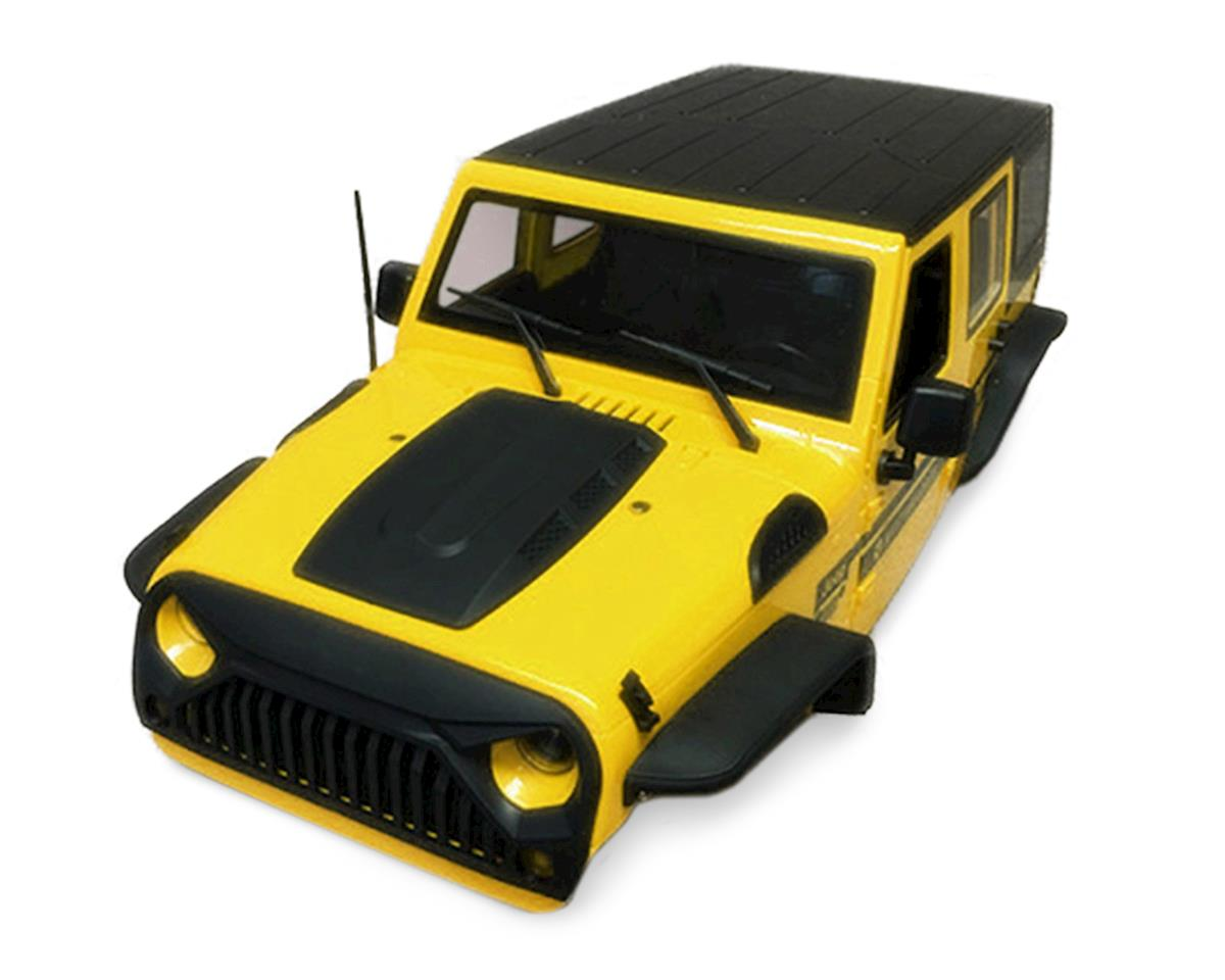 Xtra Speed Jeep Wrangler Hard Plastic Body Kit (Yellow) (313mm)