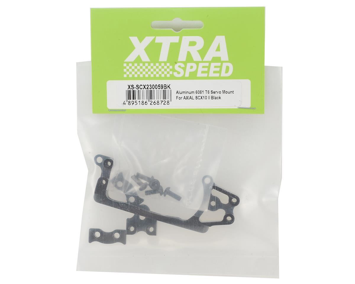 Xtra Speed SCX10 II Aluminum Servo Mount (Black)