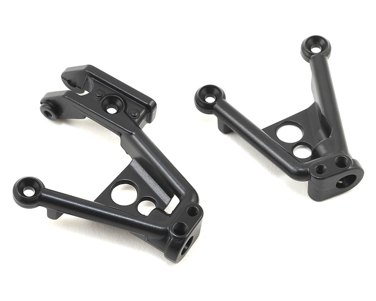 SCX10 II Aluminum Front Shock Hoops (Black) (2) by Xtra Speed