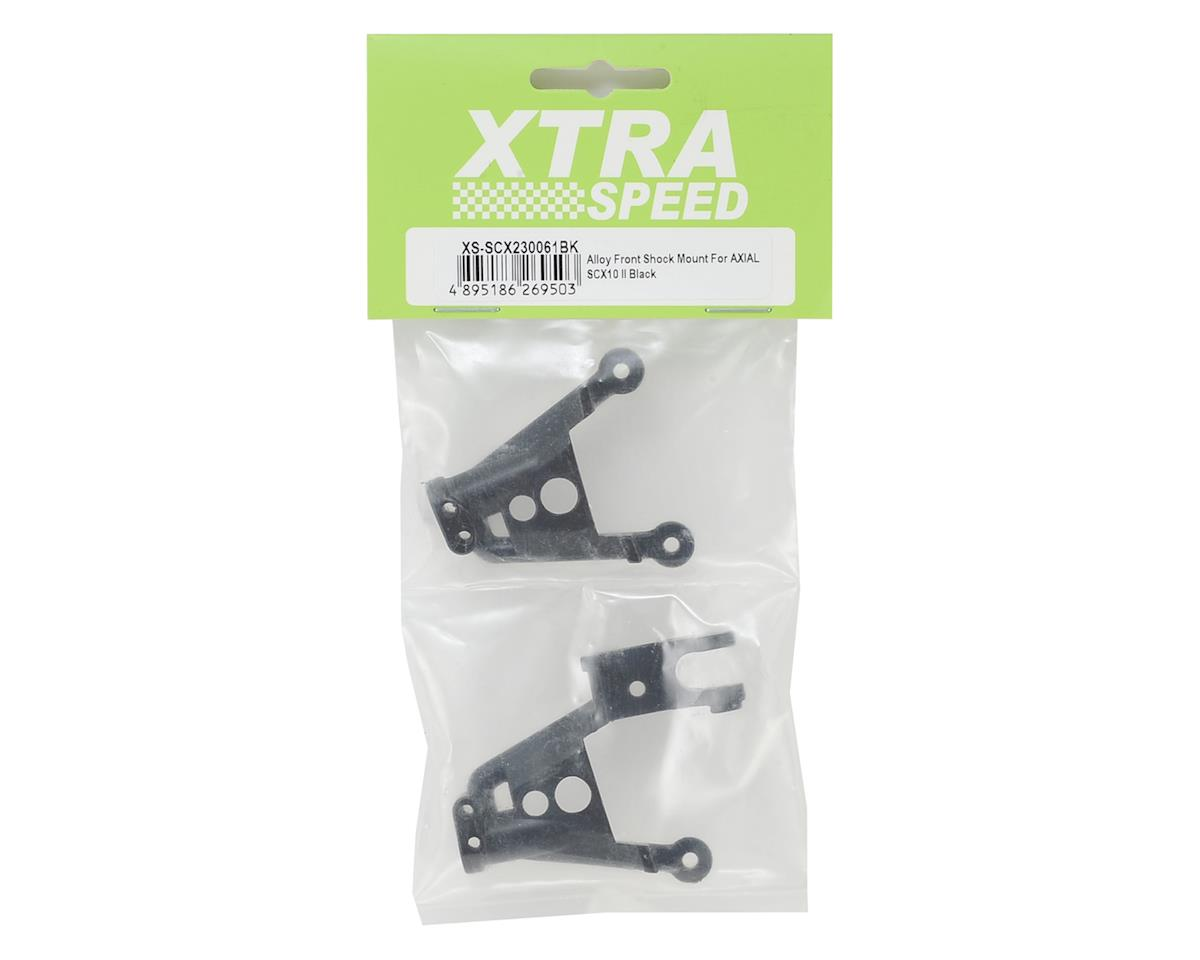 Xtra Speed SCX10 II Aluminum Front Shock Hoops (Black) (2)