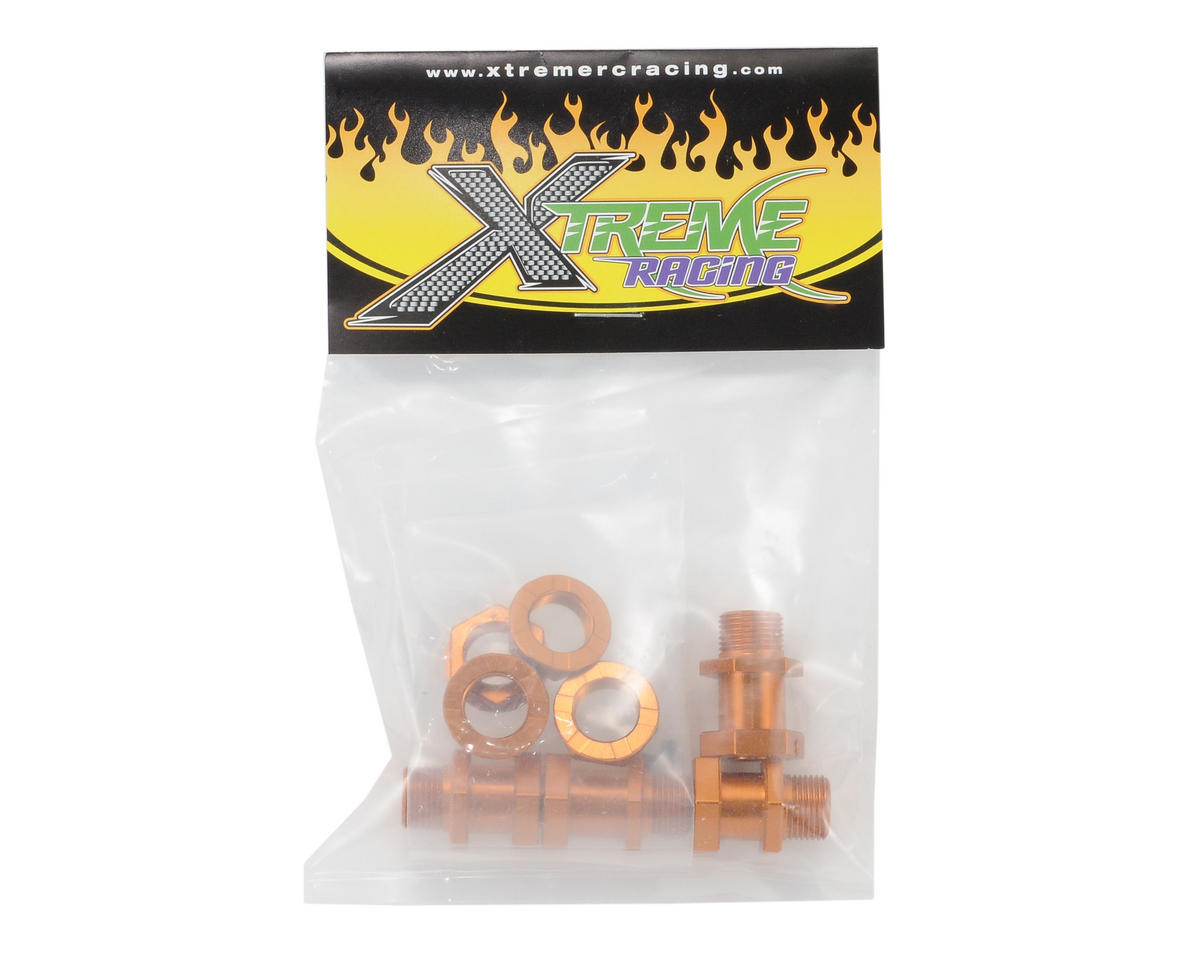 Xtreme Racing Traxxas Slash 17mm Wheel Adapters (Orange) (4)