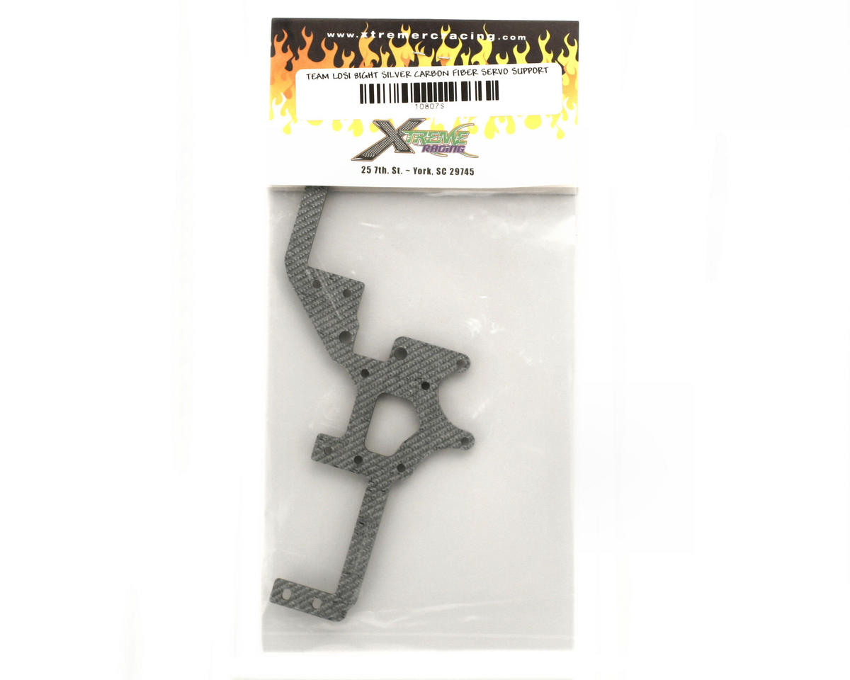 Image 2 for Xtreme Racing Team Losi 8ight Carbon Fiber Servo Tray Support (Silver)