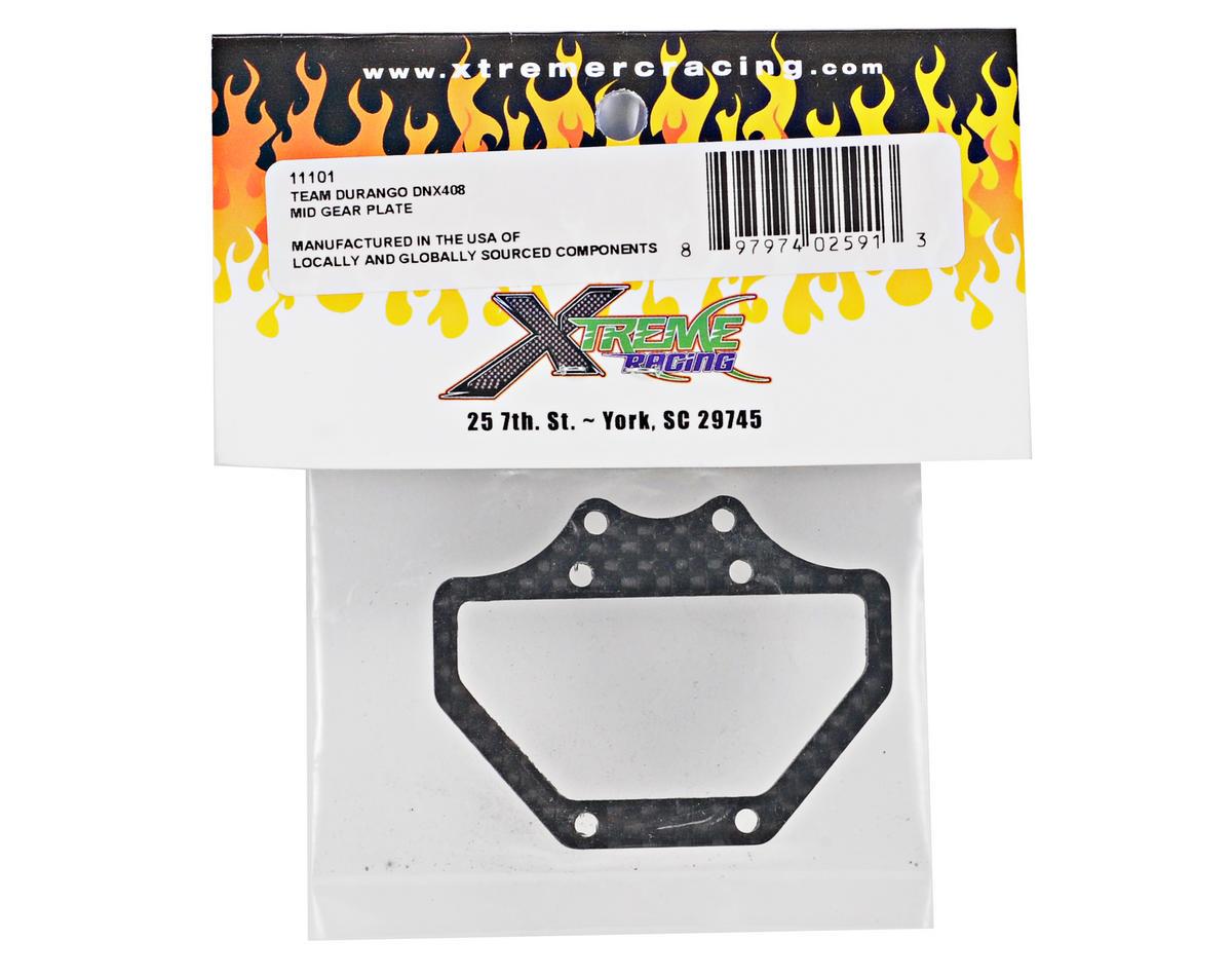 Xtreme Racing Durango DNX408 Carbon Fiber Mid Gear Plate (Black)