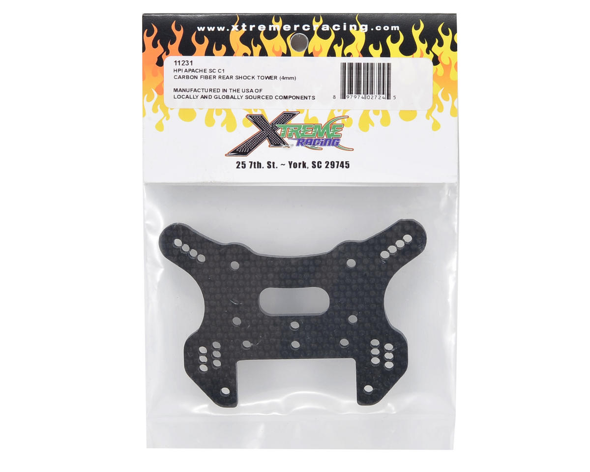 Xtreme Racing 4mm Carbon Fiber Rear Shock Tower
