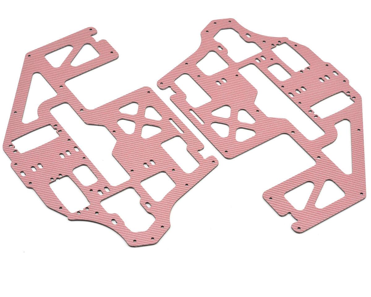 Xtreme Racing Heli Carbon Fiber Frame Set (Red)