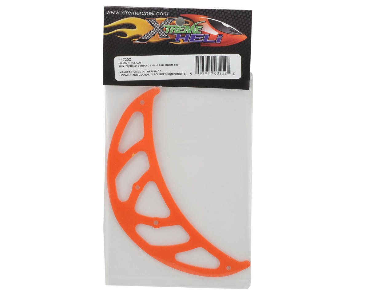 "Xtreme Racing ""High Visibility"" G-10 Tail Boom Fin (Orange)"