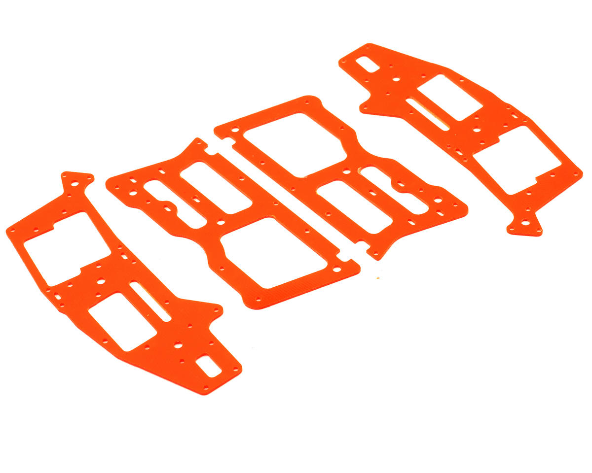 Xtreme Racing Heli Align T-Rex 250 High Visibility G-10 Frame Set (Orange) (4)