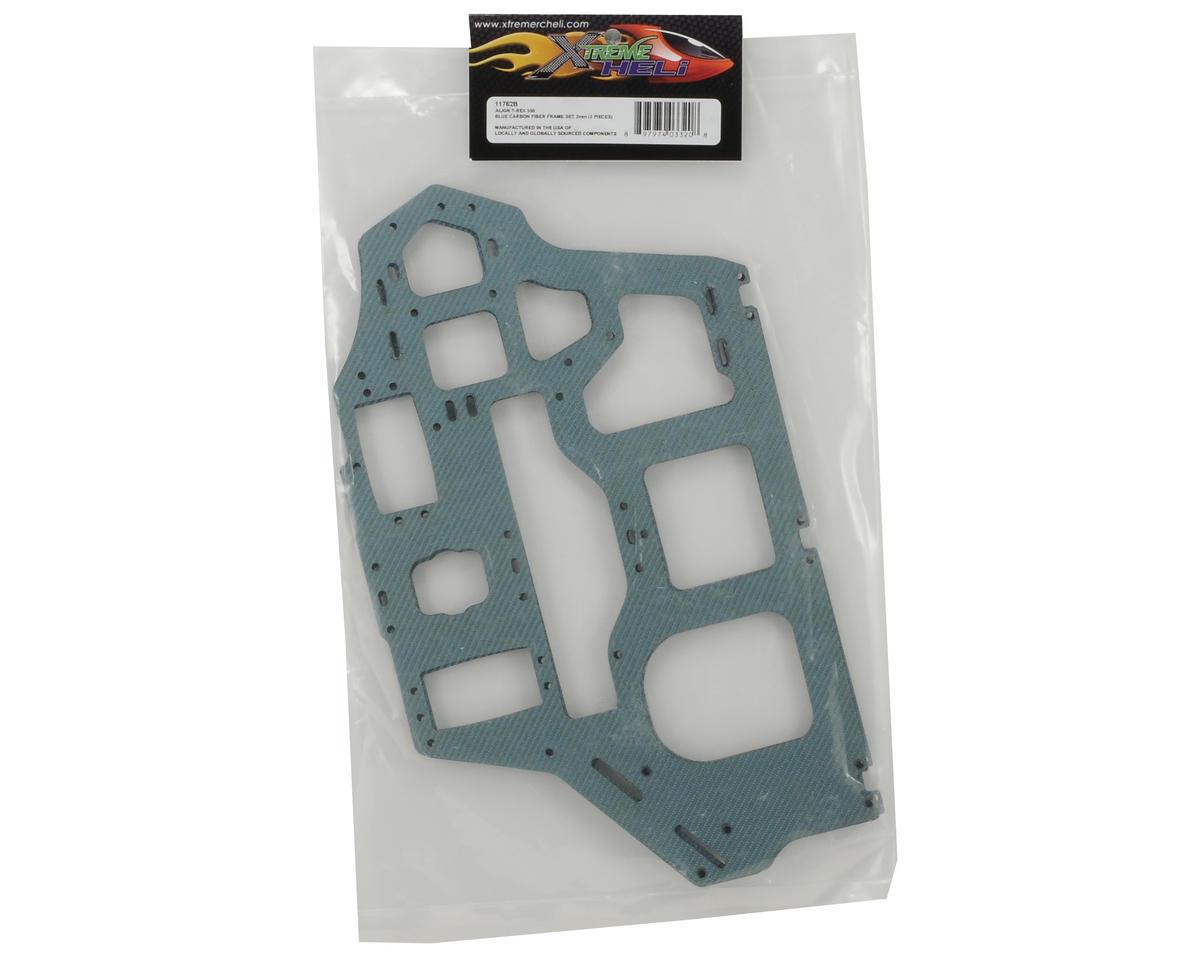 Xtreme Racing Heli Align T-Rex 550 2mm Carbon Fiber Frame Set (Blue)