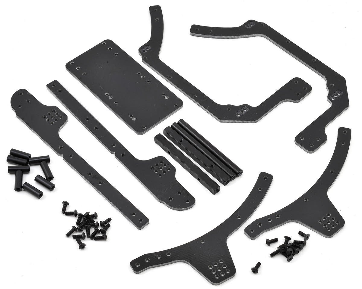 Xtreme Racing Axial RR10 Bomber 3mm G10 Frame Rail Kit (Black)