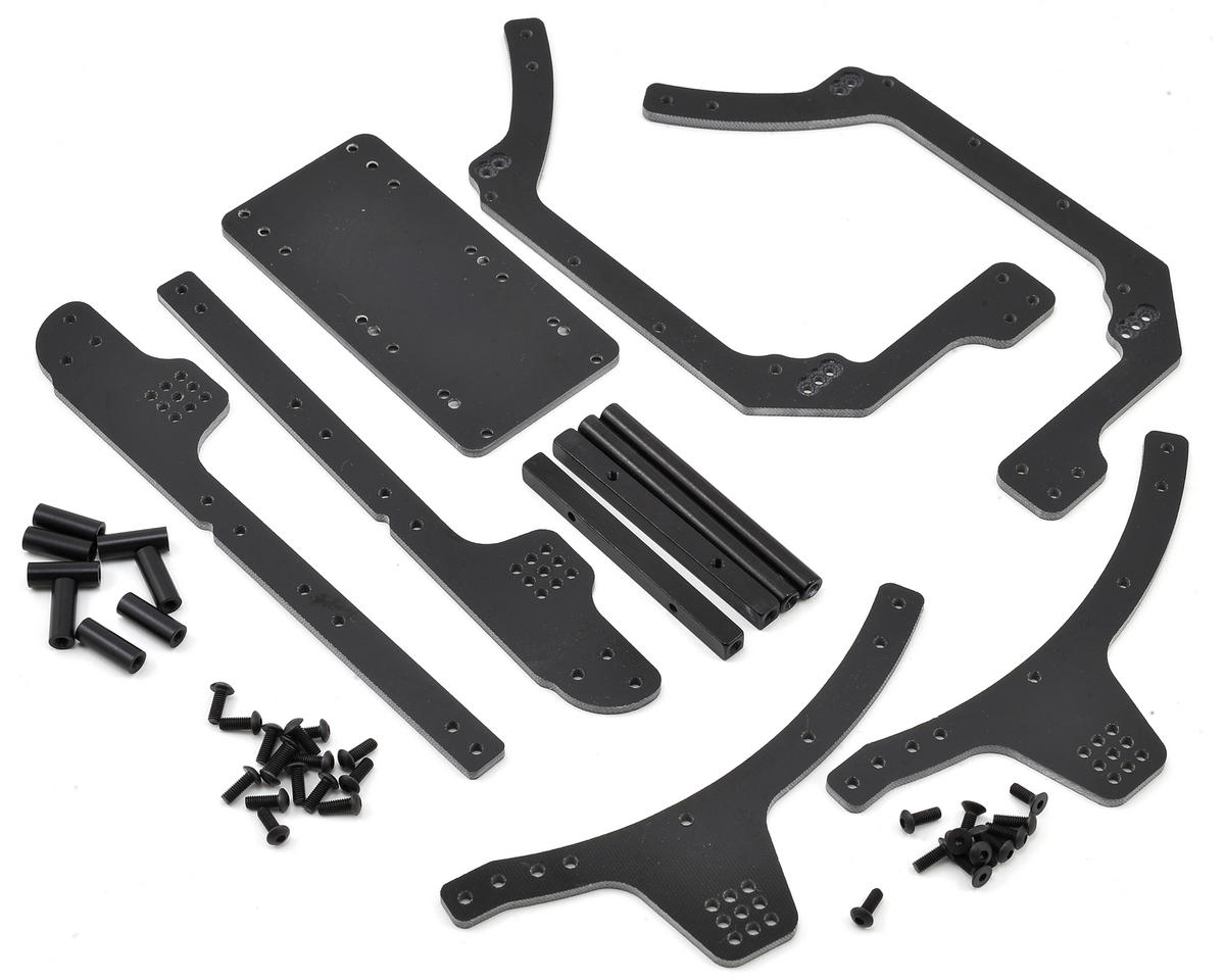 Axial RR10 Bomber 3mm G10 Frame Rail Kit (Black)